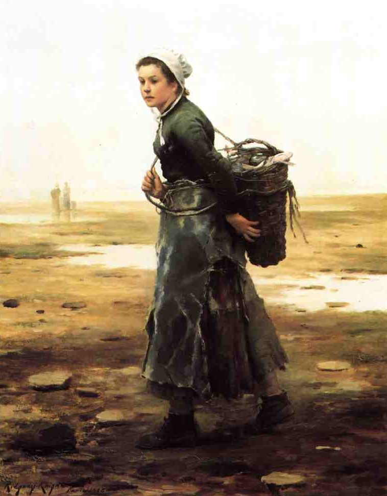 Girl with Oysterbasket